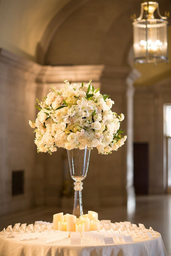 Loving The Glamour In This Washington DC Wedding. White CenterpieceWedding  Table ...