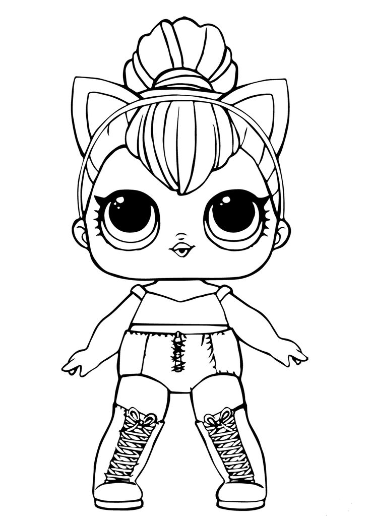 Free Lol Doll Coloring Sheets Kitty Queen Cool Coloring