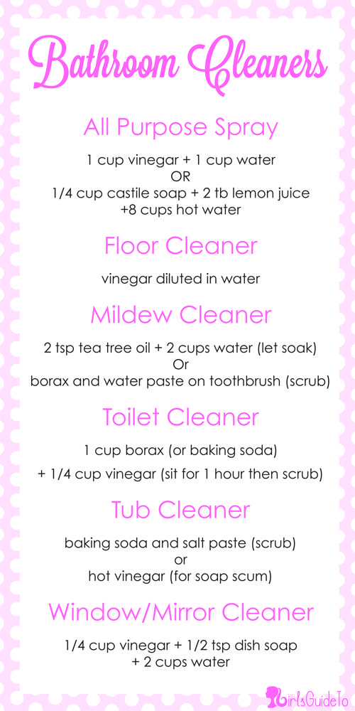 GirlsGuideTo | DIY Friday: Natural Bathroom Cleaners | GirlsGuideTo