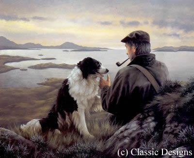 Unspoken Words - Border Collie ~ Artist: Nigel Hemming