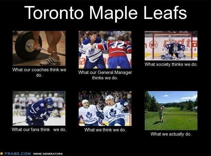Twitter / hockeymemes: What the Toronto Maple Leafs