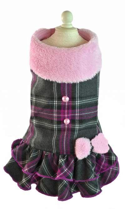 Lindo vestido para perros, para lucir espectacular esta temporada de Otoño Invierno. Dog Clothes, Ropa para perros www.toutmignon.net