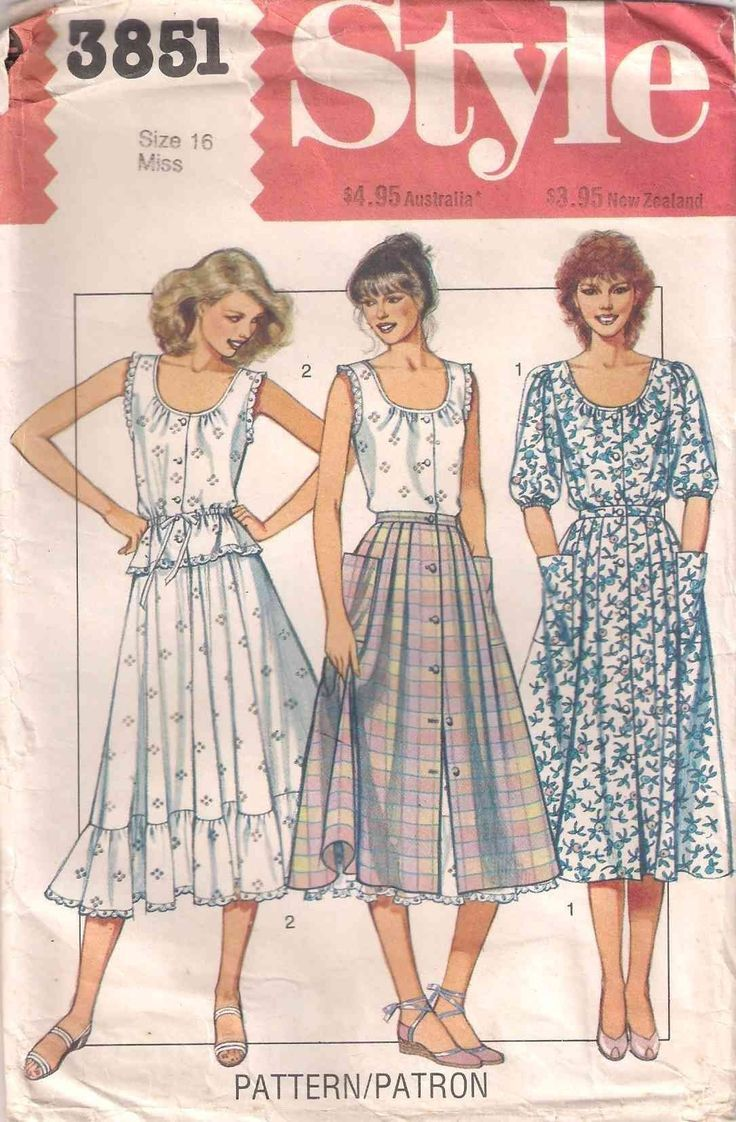 Style 3851 Sewing Pattern Top And Skirts Pattern Misses Size 16 80s 1980s Eighties V Vintage Clothes Patterns Fashion Sewing Pattern Dress Making Patterns