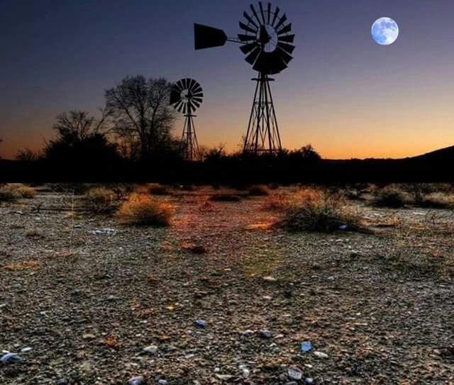 Karoo moon rising
