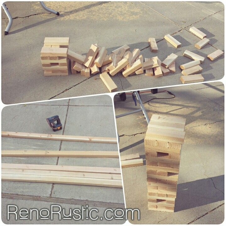 DIY: Build a Giant Jenga set for only $11! Super easy!
