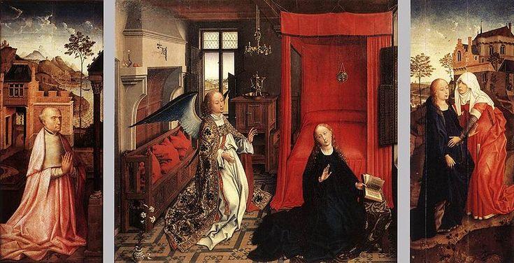Rogier van der Weyden (1399 — 1464). Благовещенский Триптих Около 1440, Центральная часть,Лувр