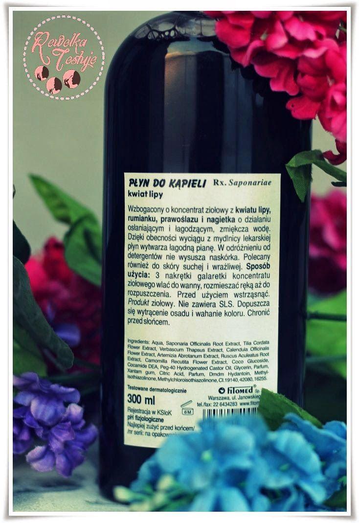 Fitomed, Mydlnica Lekarska, Płyn do kąpieli z koncentratem ziołowym 'Kwiat lipy' http://www.rewelka-testuje.blogspot.com/2014/08/pyn-do-kapieli-z-kwiatem-lipy-zioowe.html