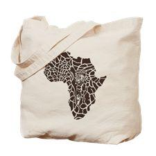 Africa in a giraffe camouflage Tote Bag