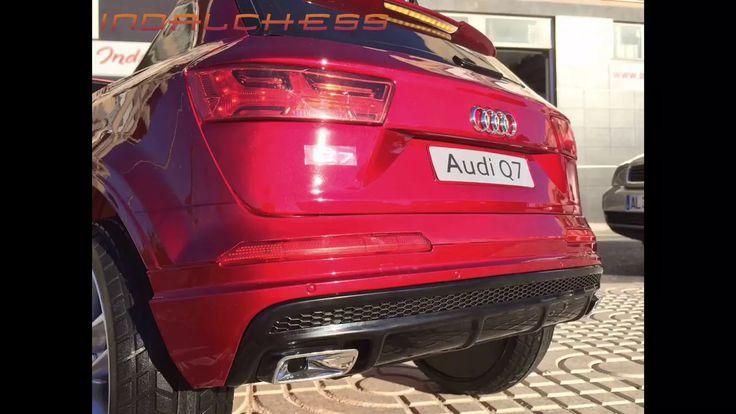 Fotomontaje Coche de batería para niños Audi Q7 Burdeos en Indalchess