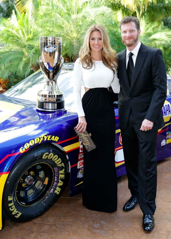 Dale Earnhardt Jr and Amy Reimann at NNS Awards 2014! :) #Cutest couple ever! :).