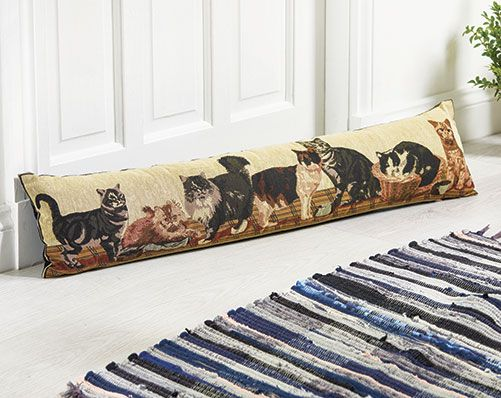 Animal Pattern Draught Excluder £15  Block draughts from your house with cute cat or dog patterned draught excluders! 60% cotton, 40% polyester. Size of each L90 x W20cm. Machine washable.  KLife Kleeneze