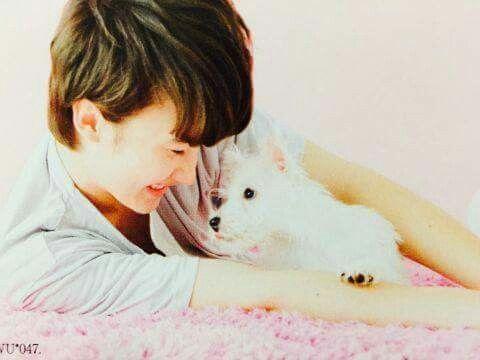 Marius + puppy