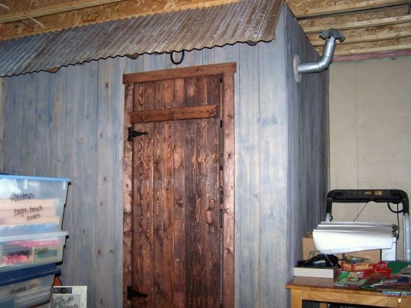 Rustic Outhouse Bathroom