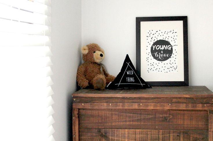 Wild Thing triangle cushion by bettyandmoose.com.au