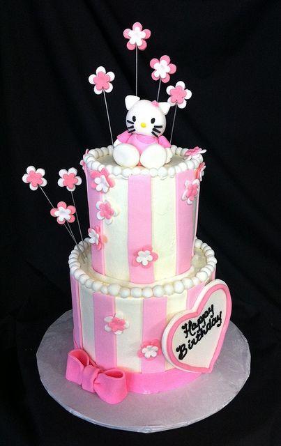 2 tier hello kitty cake | Flickr - Photo Sharing!