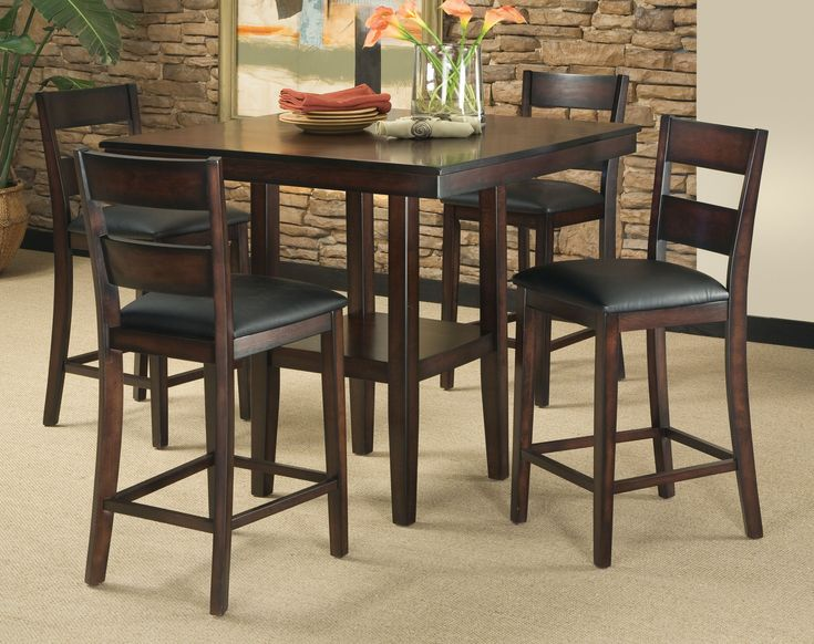 Small Counter Height Dinette Sets | ... Counter Height Dining Room Set Table  Chair