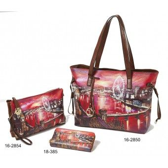 Τσάντες και πορτοφόλι με στάμπα Verde S-6827