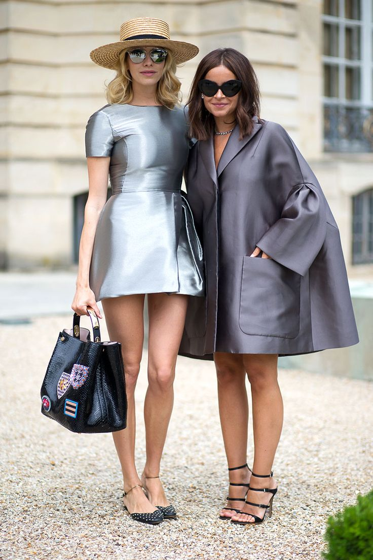 Elena Perminova and Miroslava Duma in Dior, Street Style Fall 2014