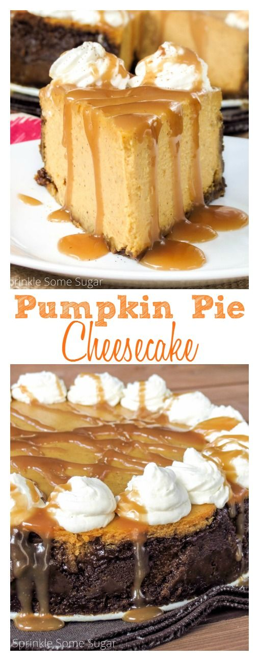 Pumpkin pie meets cheesecake in this ultra-creamy, perfectly spiced, pumpkin cheesecake!