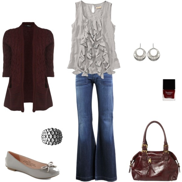 Wine and Gray......always a cute combination