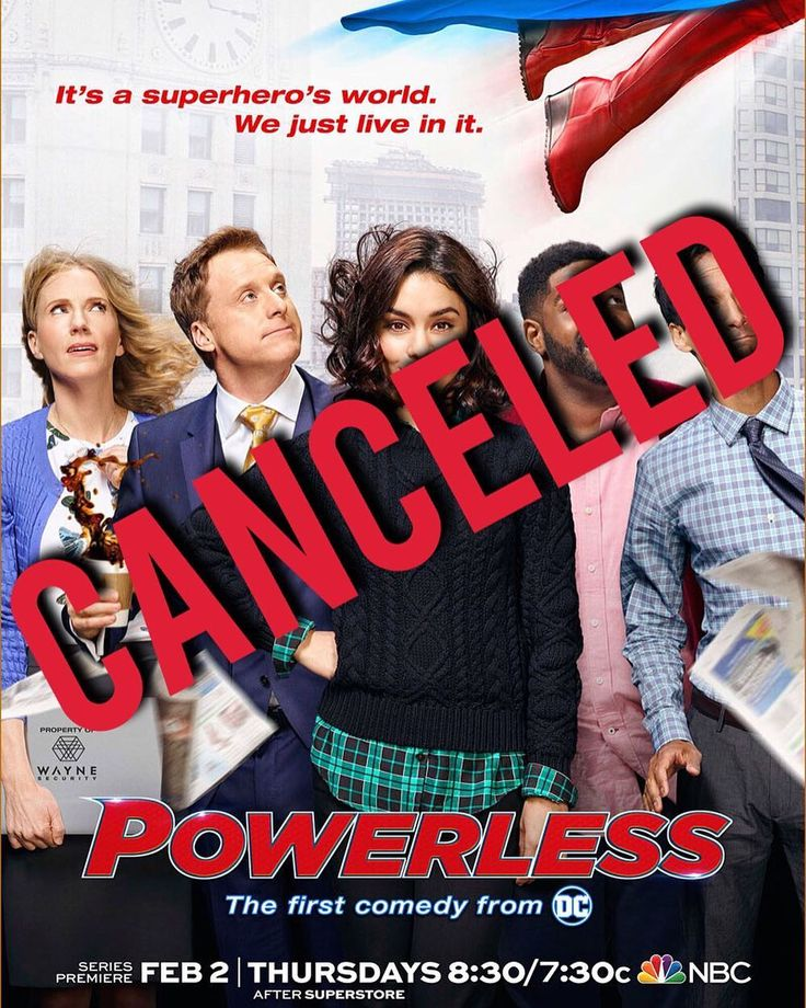 NBC canceled it's DC comedy series Powerless. It wasn't really unexpected since they pulled the final 3 episodes of their Thursday night lineup.  Powerless was set in the DC Comics. It revolved around a team or researchers working at Wayne Security developing products for the average joe to help them from becoming collateral damage in the neverending fight between the cities superheroes and super villains. It always sounded promising since the cast consisted of Danny Pudi (Community Captain…