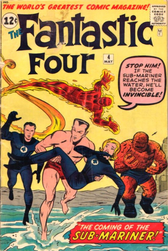 fantastic four covers silver age | Fantastic Four #4 comic book from Marvel Comics Group