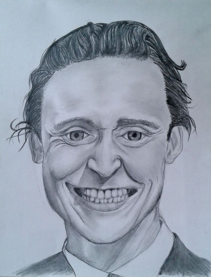 A portrait drawing of Tom Hiddleston, better known as 'Loki'. This is done solely in standard shading pencils.  Took me about half a day to complete this.