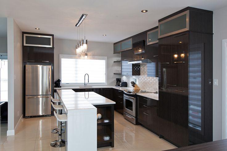 cuisine fait cuisine cuisine cuisine moderne apporte une fait en bois ...