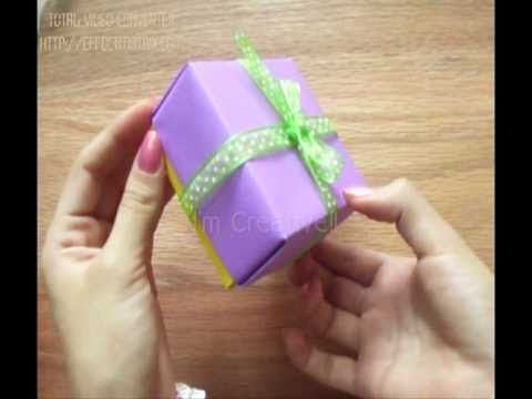 Caja de papel/cartulina etc FÁCIL - YouTube