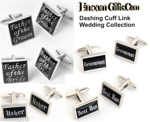 WEDDING CUFFLINKS - Groomsman, Usher, Father of the Bride or Groom, Groom, Best Man, Usher