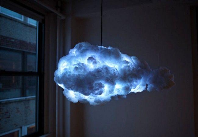 Essa luminária em formato de nuvem cria trovoadas dentro da sua sala. E é muito (muito) legal. - Awebic