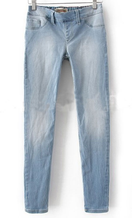 Light Blue Denim Zipper Fly Waist Skinny Pant: Cat, Denim Zippers, Delicious Denim, Blue Denim
