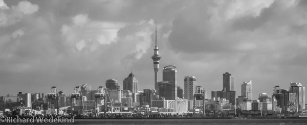 Auckland CBD from the Waiheke Island ferry.