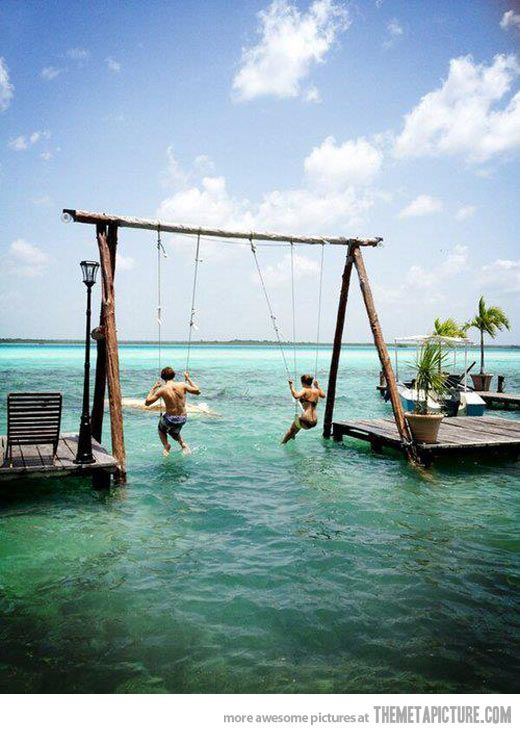 Probably the best place for a swing…