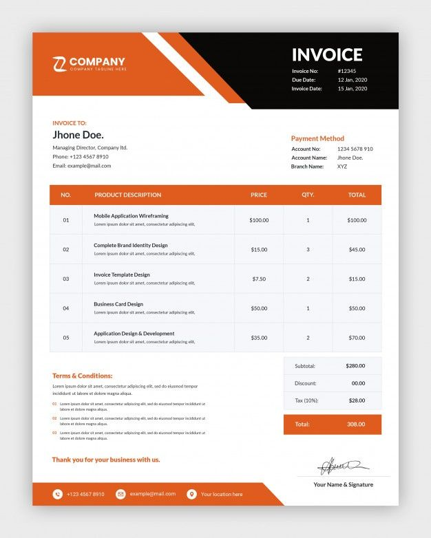 Modern Corporate Business Invoice Template Design Invoice Design Template Invoice Template Invoice Design