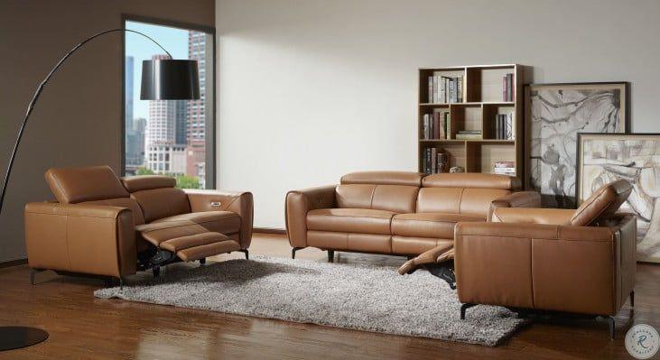 Lorenzo Caramel Leather Reclining Living Room Set In 2021 Leather Living Room Set Reclining Sofa Living Room Modern Recliner Sofa