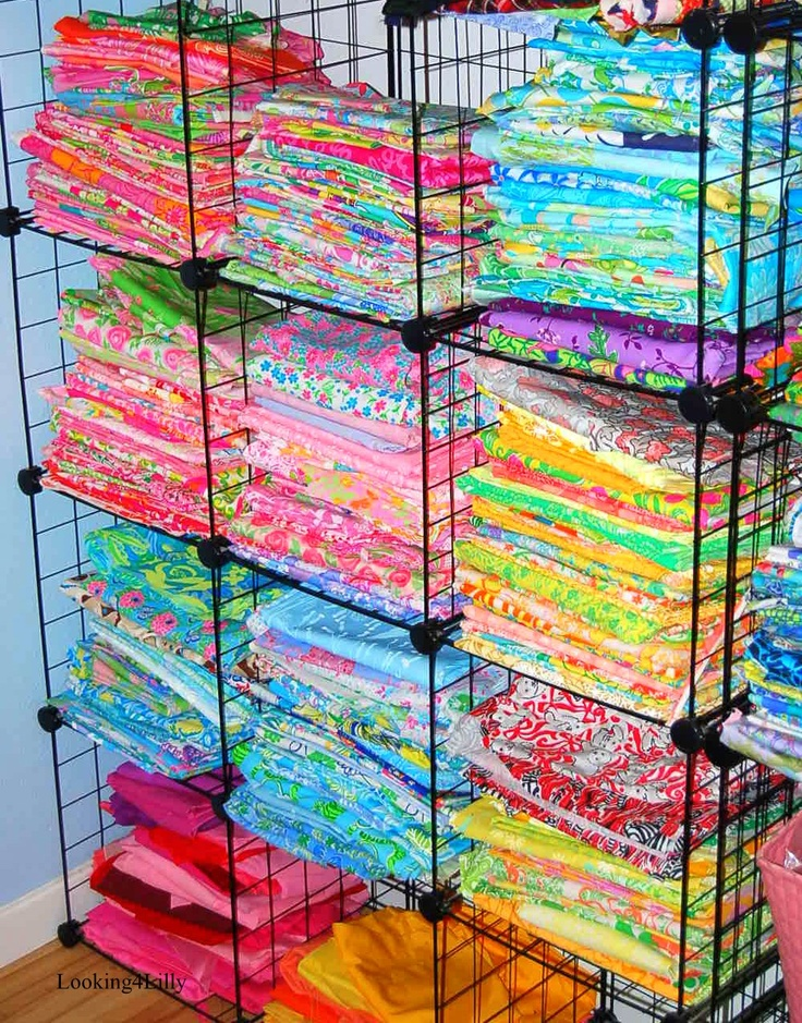This would be my idea of Lilly Heaven a collection of Lilly prints. I would roll them and tie them with lovely bows and put them in a bright colored armoire. With displays of shells and other Lilly accouterments #neverenoughLilly