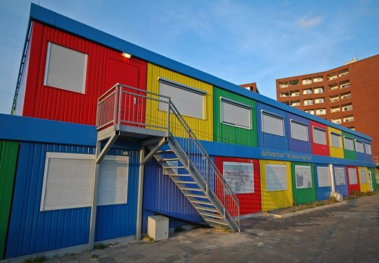 The Shipping Container School, Amsterdam, Netherlands