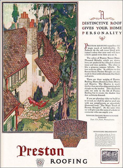 1925 Preston Roofing Ad   Flickr - Photo Sharing!