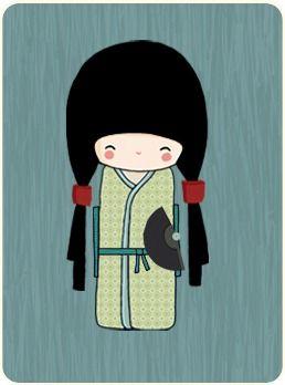 Une création de Fanny grâce à la fabrique à kokeshi !