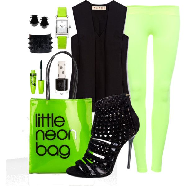 """""""Neon Green"""" by rusinn on Polyvore"""