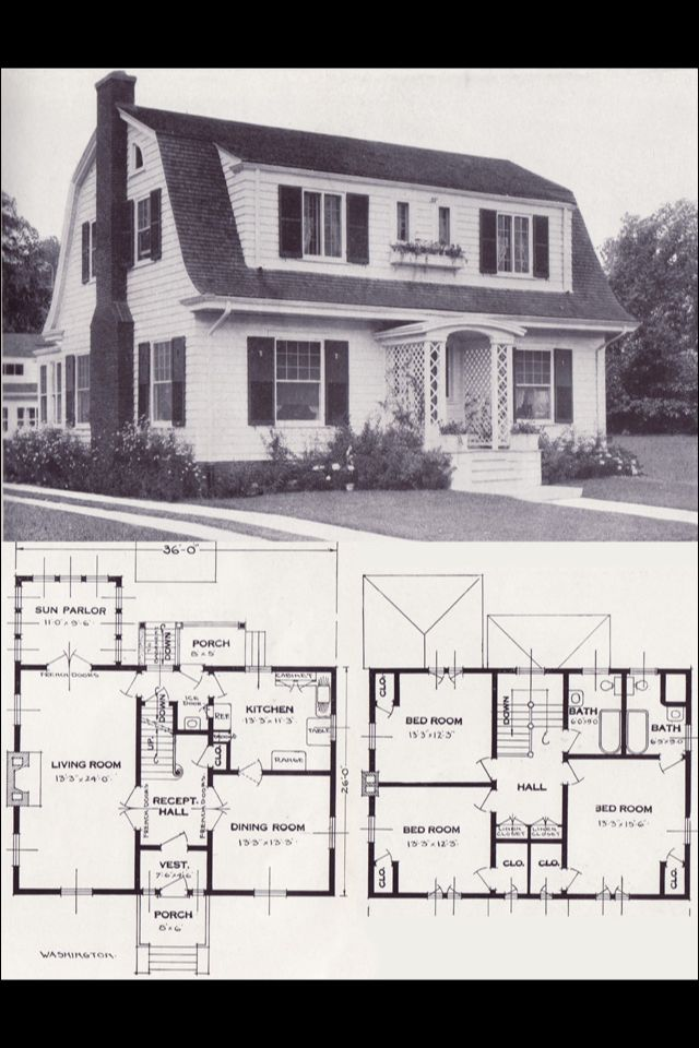 23 best dutch colonial houses images on pinterest dutch for Dutch colonial house plans