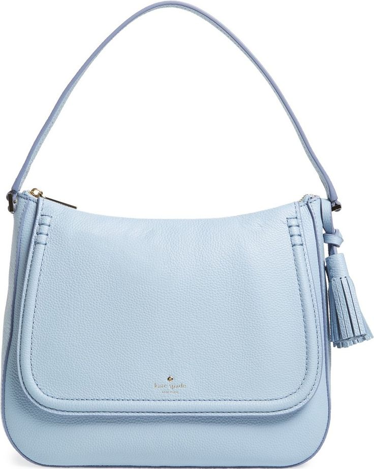 Kate Spade New York Grey Skies 'Orchard Street - Treana' Leather Shoulder Bag