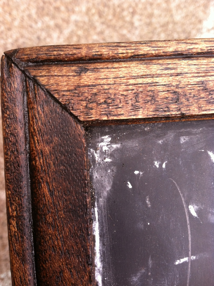 Cheap Unfinished Chalkboard Frame Used Minwax Dark Oak Stain And Minwax Paste Wax To Make A