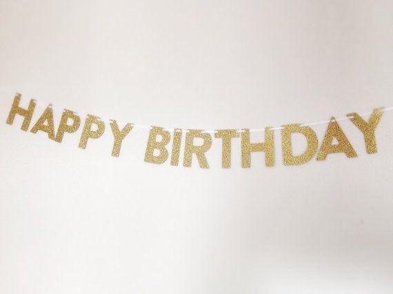 HAPPY BIRTHDAY Glitter Mini Banner... Birthday by CreativePapier, $19.00