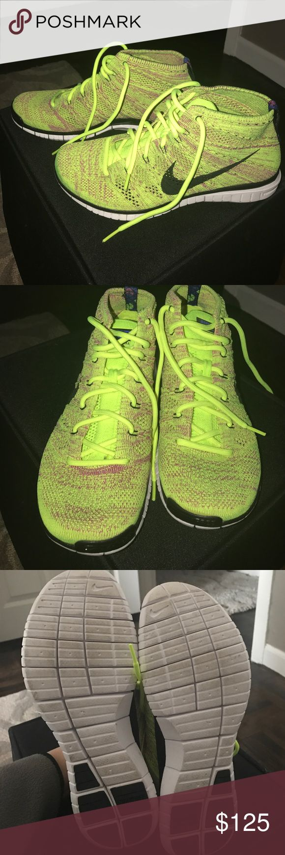Nike Flyknit Chukka Sneakers Worn once. No box. Very comfortable and lightweight. Men's size 8. Women's 9/9.5. :) Nike Shoes Sneakers