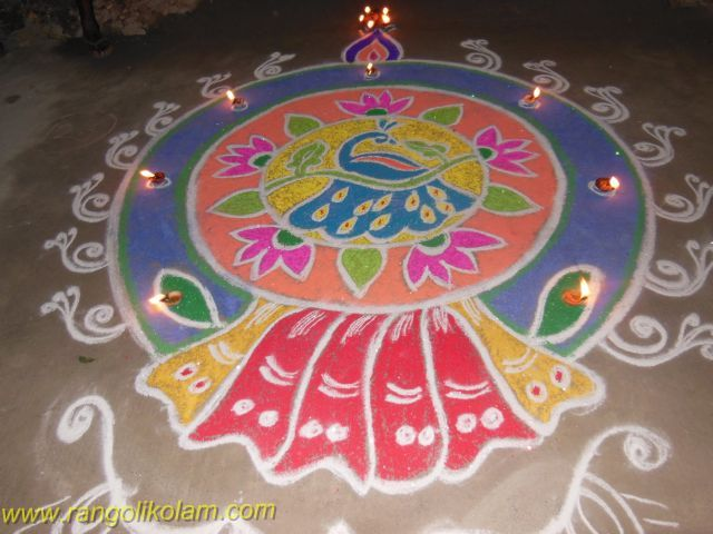 Colourfull Diwali Kolam