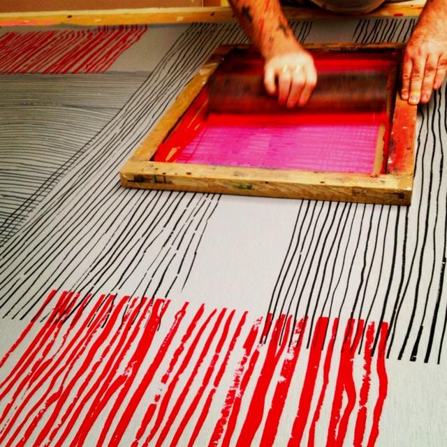 Printing wool