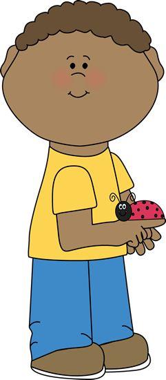Boy with a ladybug.