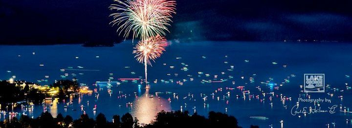 fireworks EVERY WEEK in the summer over Lake George NY - many go out on boats on the lake for an amazing view - wouldn't this be awesome to do someday??   PHOTOGRAPHY CREDIT CARL HEILMAN II